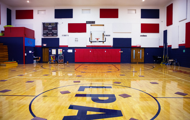 Lorain Prep gymnasium.